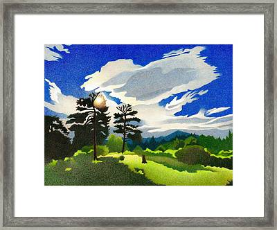 Framed Print featuring the drawing Elk Ridge Twilight by Dan Miller