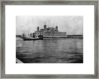 Ellis Island Framed Print by Hulton Archive
