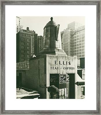 Ellis Tea And Coffee Store, 1945 Framed Print
