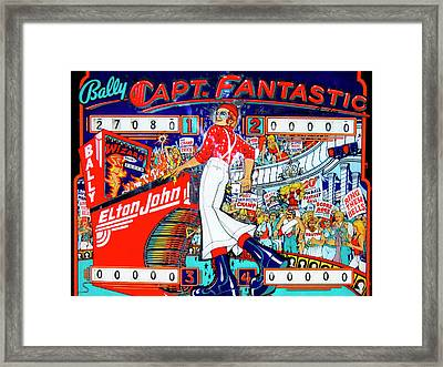 Elton John Pinball Wizard Framed Print