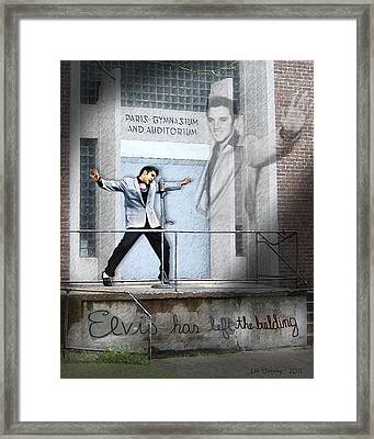 Elvis Has Left The Building Framed Print
