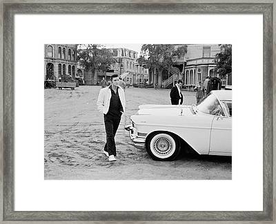 Elvis On Set Framed Print by Archive Photos