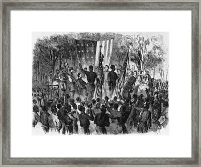 Emancipation Day Framed Print by Fotosearch