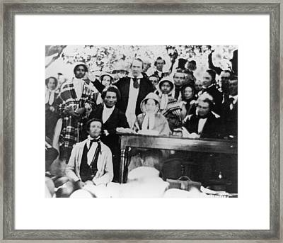 Emancipation Meeting Framed Print by Fotosearch