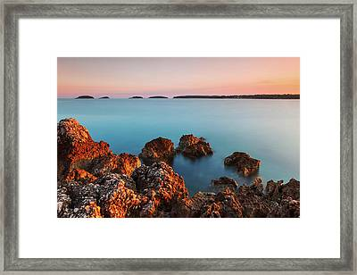 Framed Print featuring the photograph Ember And Blue by Davor Zerjav