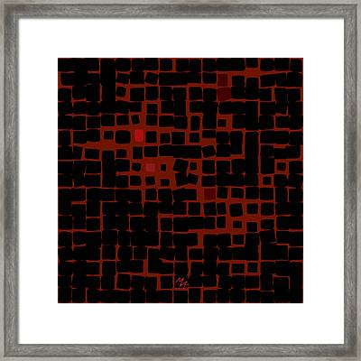 Framed Print featuring the digital art Ember by Attila Meszlenyi