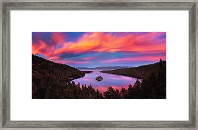 Emerald Bay Explode Framed Print