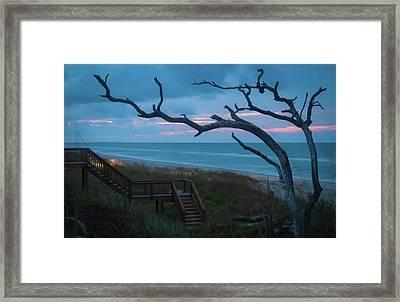 Emerald Isle Obx - Blue Hour - North Carolina Summer Beach Framed Print