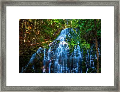 Enchanting Ramona Falls Framed Print