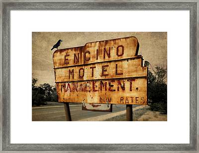 Framed Print featuring the photograph Encino Hotel by Lou Novick