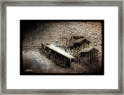 End Of The Line Mine Framed Print
