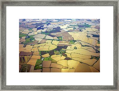 English Countryside Aerial View Framed Print by Rosmarie Wirz
