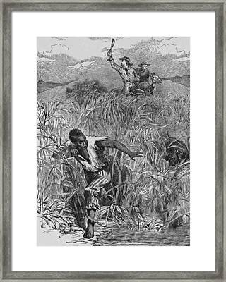 Engraving Of Slave Escape, Mid-19th Framed Print by Kean Collection