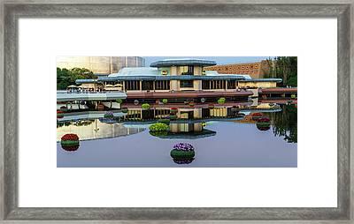 Epcot Lake Flowers Framed Print