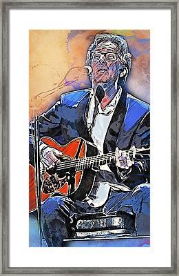 Eric Clapton - 15 Framed Print by Andrea Mazzocchetti