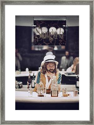 Eric Clapton In The Studio Framed Print