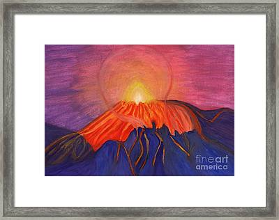 Erupting Volcano Framed Print