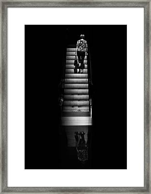 Framed Print featuring the photograph Escalator No 2 by Brian Carson
