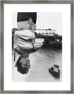 Escapologist Framed Print by Peter Keegan
