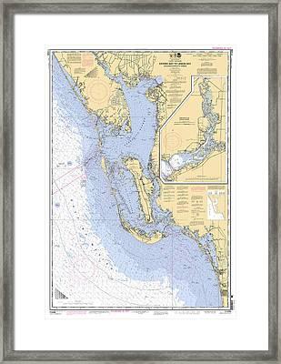 Estero Bay To Lemon Bay, Noaa Chart 11426 Framed Print