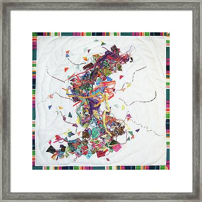 Etude In Fabric Framed Print