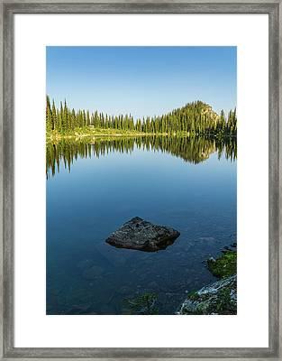 Eva Lake Mirror Framed Print