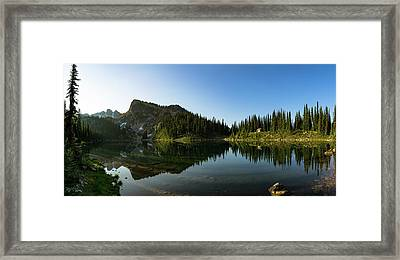 Eva Lake Panorama Framed Print