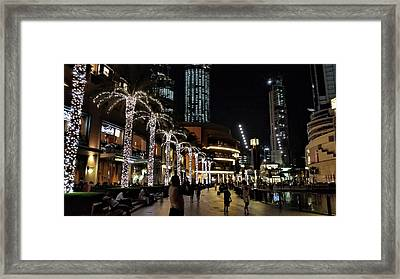 Evening At Dubai Maill, Dubai, United Arab Emirates Framed Print