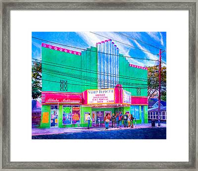 Framed Print featuring the photograph Evening At The Variety Playhouse - Atlanta by Mark E Tisdale