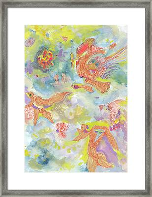 Everyone Dances In My Garden #ss19dw001  Framed Print by Satomi Sugimoto