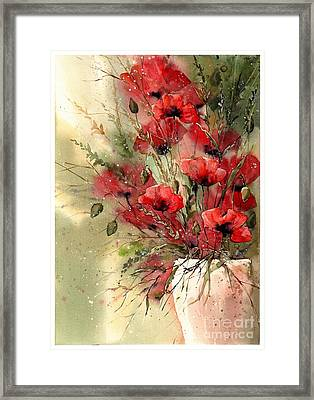 Everything About Poppies I Framed Print