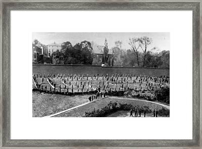 Exercising Prisoners Framed Print by Hulton Archive