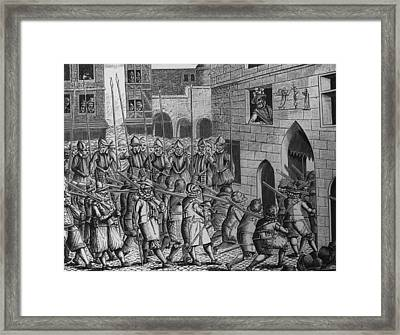 Exit Of Spaniards Framed Print by Hulton Archive