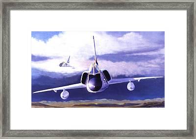 F-106a Head-on Framed Print