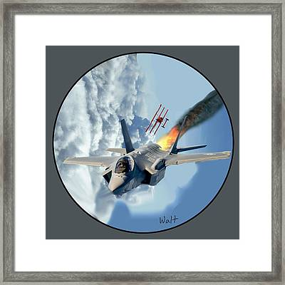 F-35 Vs The Red Baron Framed Print
