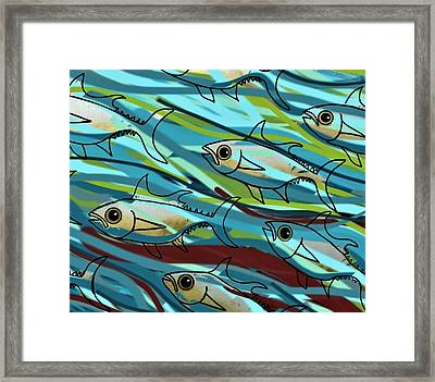 F Is For Fish Framed Print