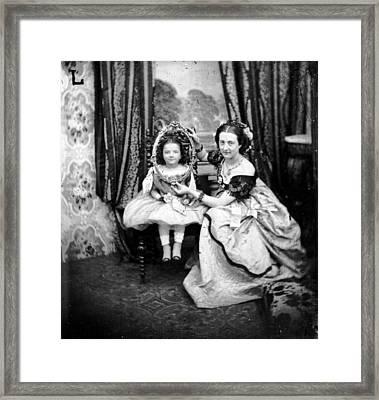 Face Framing Framed Print by London Stereoscopic Company