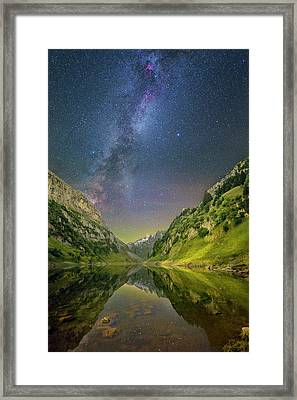 Faelensee Nights Framed Print