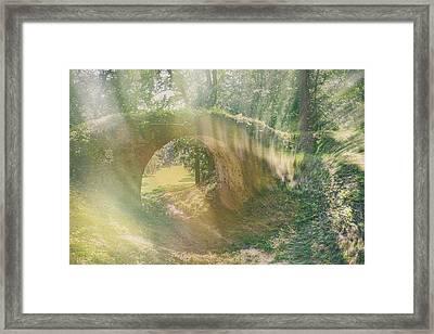 Fairytale Bridge. Kachanivka, 2017. Framed Print
