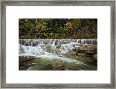 Framed Print featuring the photograph Fall At Pillsbury Crossing by Scott Bean