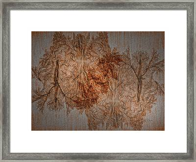 Framed Print featuring the digital art Fall Colors By Proxy -textured by Bill Posner