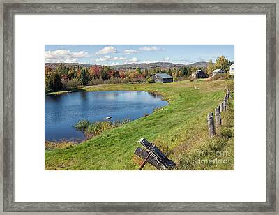 Framed Print featuring the photograph Fall Colors In Port Au Persil by Tatiana Travelways
