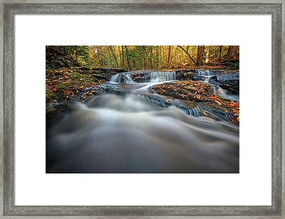 Framed Print featuring the photograph Fall Morning At Vaughan Brook. by Rick Berk