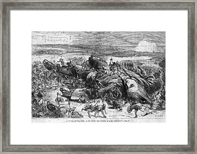 Fallen Giant Framed Print by Hulton Archive