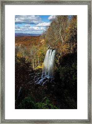Framed Print featuring the photograph Falling Spring Falls by Pete Federico