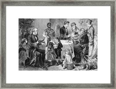Family Christmas Framed Print by Hulton Archive