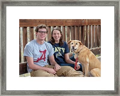 Family Dog Framed Print