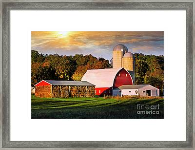 Framed Print featuring the photograph Family Farm by Scott Kemper