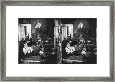 Family Scene Framed Print by London Stereoscopic Company