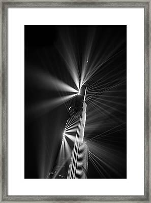 Fan Dance Framed Print